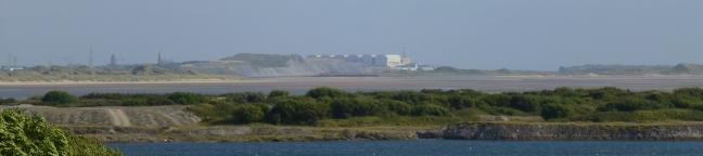 Barrow-in-Furness, across the Duddon estuary