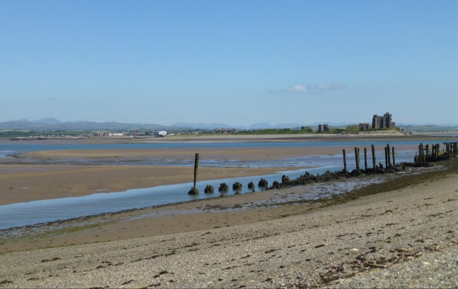 Piel Castle, Furness, from South Walney
